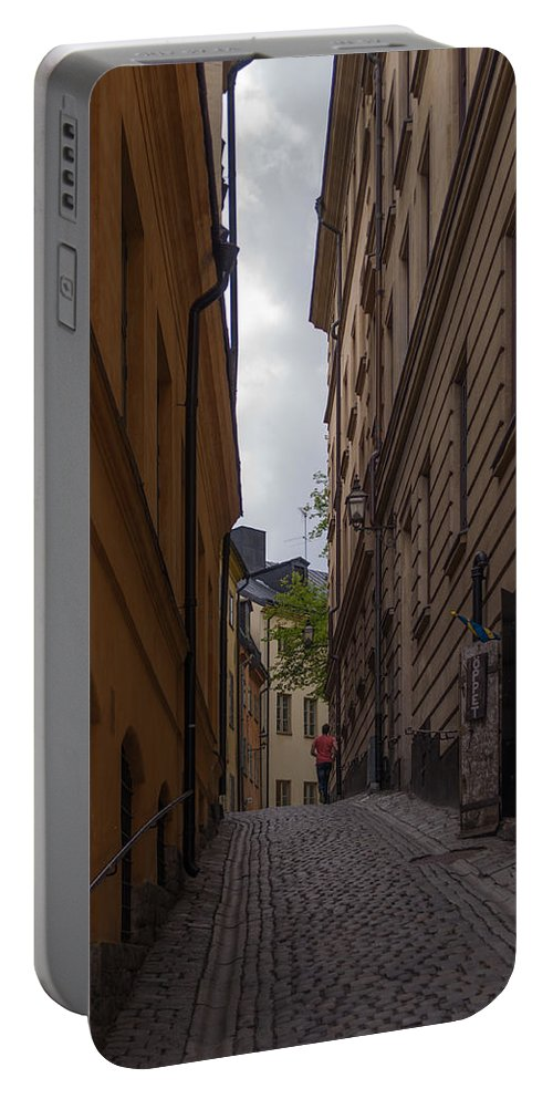 Architecture Portable Battery Charger featuring the photograph Running Up The Lane by Jill Mitchell