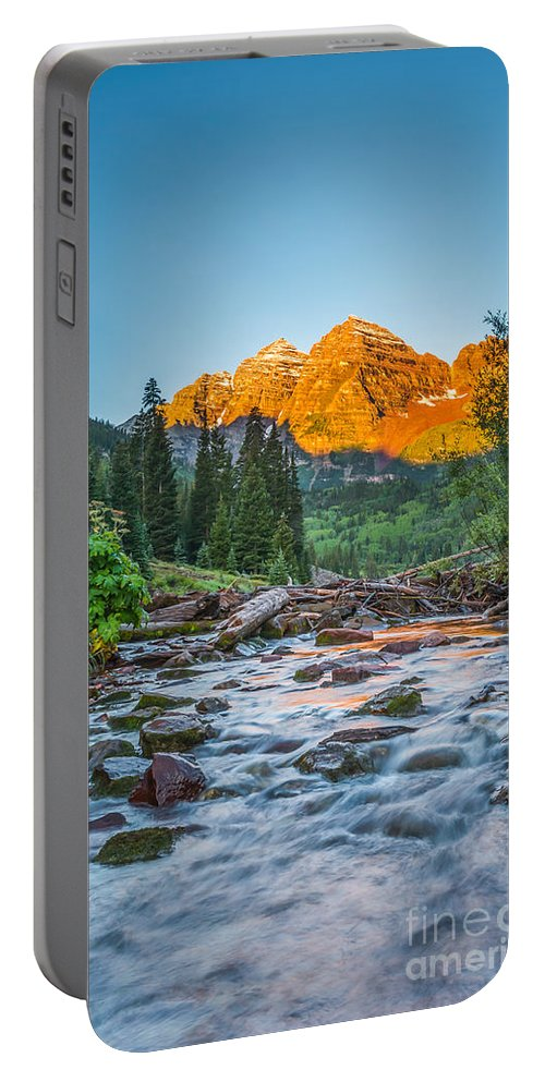 Maroon Lake Portable Battery Charger featuring the photograph Runoff by Michael Ver Sprill