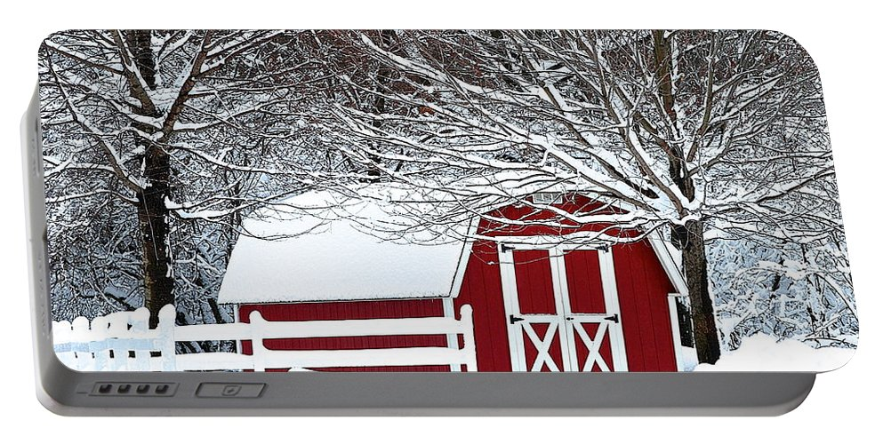 Farm Portable Battery Charger featuring the photograph Rural Living by Frozen in Time Fine Art Photography