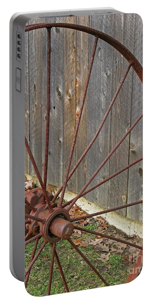 Relic Portable Battery Charger featuring the photograph Rural Relics by Ann Horn