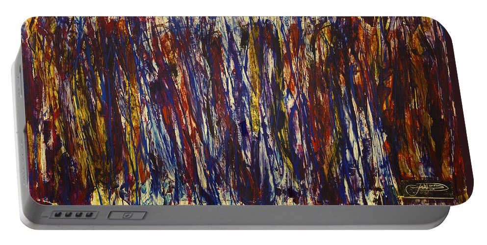 Jack Portable Battery Charger featuring the painting Rush Hour by Jack Diamond