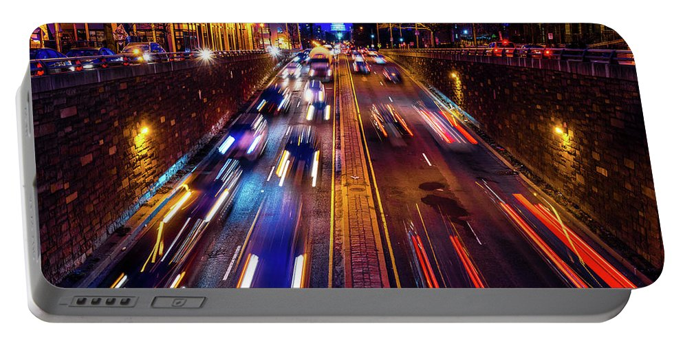 Photography Portable Battery Charger featuring the photograph Rush Hour Traffic On North Capitol Show by Panoramic Images