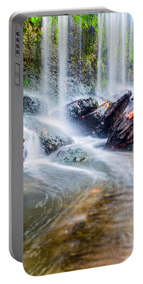 Water Portable Battery Charger featuring the photograph Rushing Water by Parker Cunningham