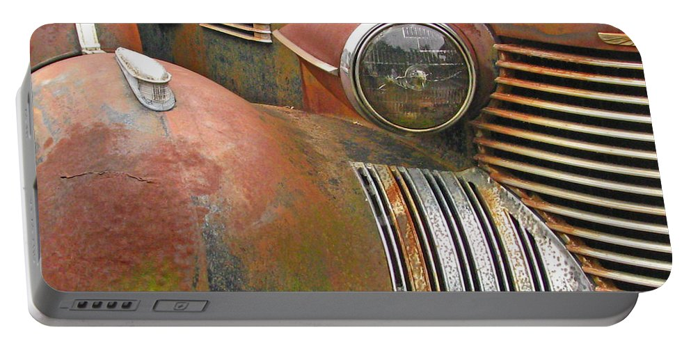 Antique Portable Battery Charger featuring the photograph Rust ... The Other Color by Deb Buchanan