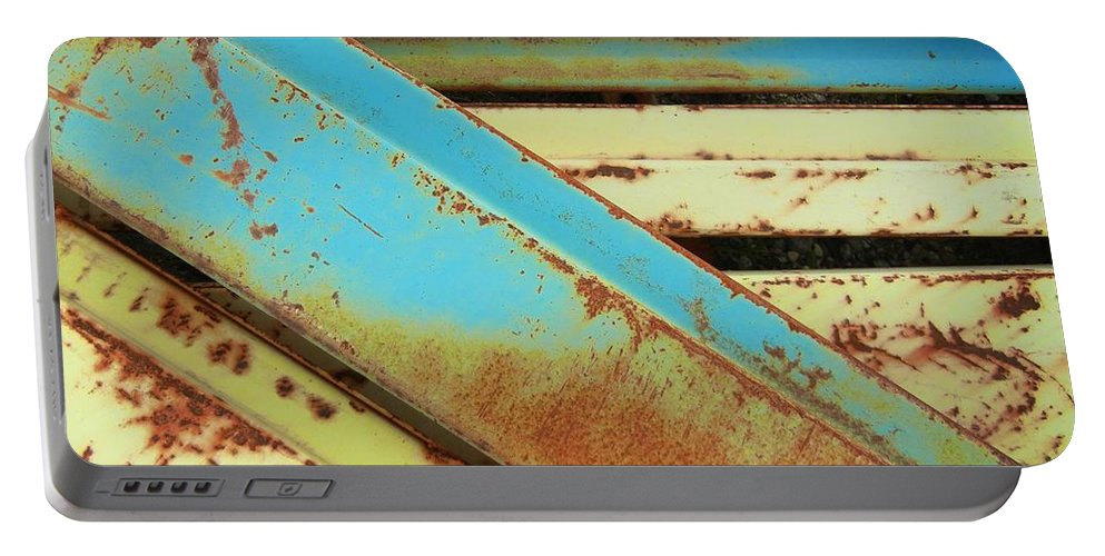 Rust Portable Battery Charger featuring the photograph Rust N Turquoise by Jamie Johnson