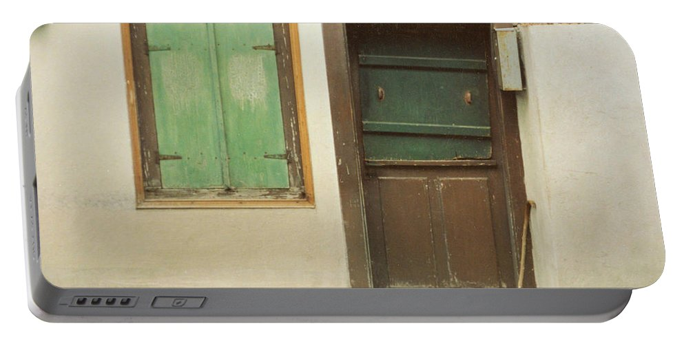 Wooden Door Portable Battery Charger featuring the photograph Rustic Door by Christine Jepsen