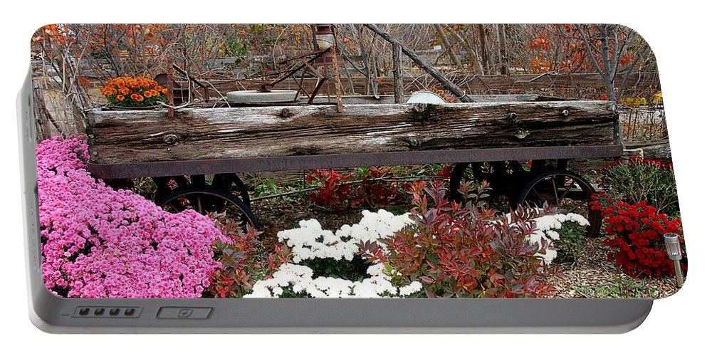 Fall Portable Battery Charger featuring the photograph Rustic Fall by Elizabeth Winter