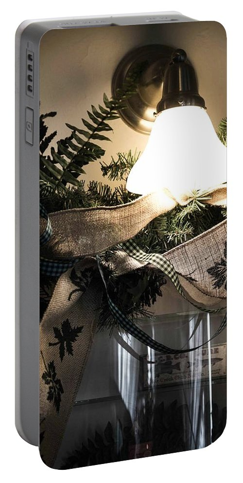 Rustic Portable Battery Charger featuring the photograph Rustic Holiday by Patricia Babbitt