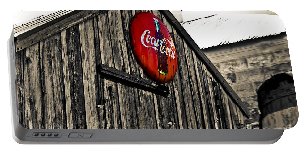 Coke Portable Battery Charger featuring the photograph Rustic by Scott Pellegrin