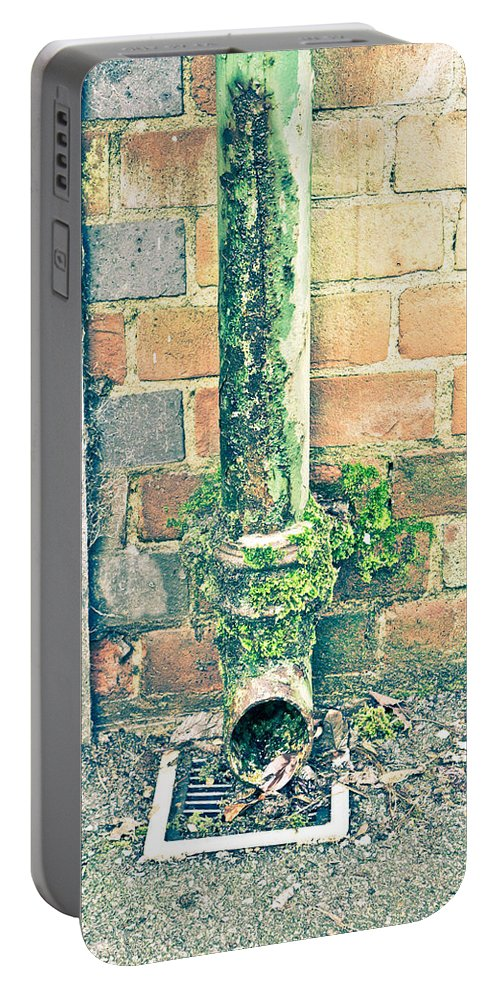 Broken Portable Battery Charger featuring the photograph Rusty Drainpipe by Tom Gowanlock