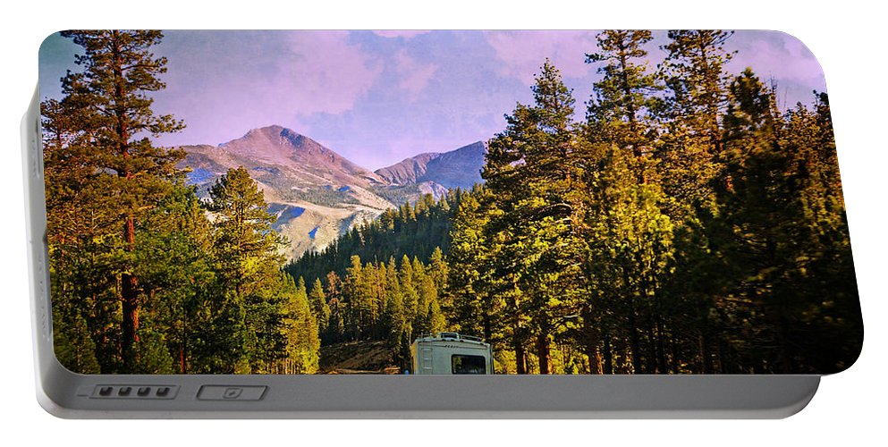 Travel Portable Battery Charger featuring the photograph Rv And See America by Lynn Bauer
