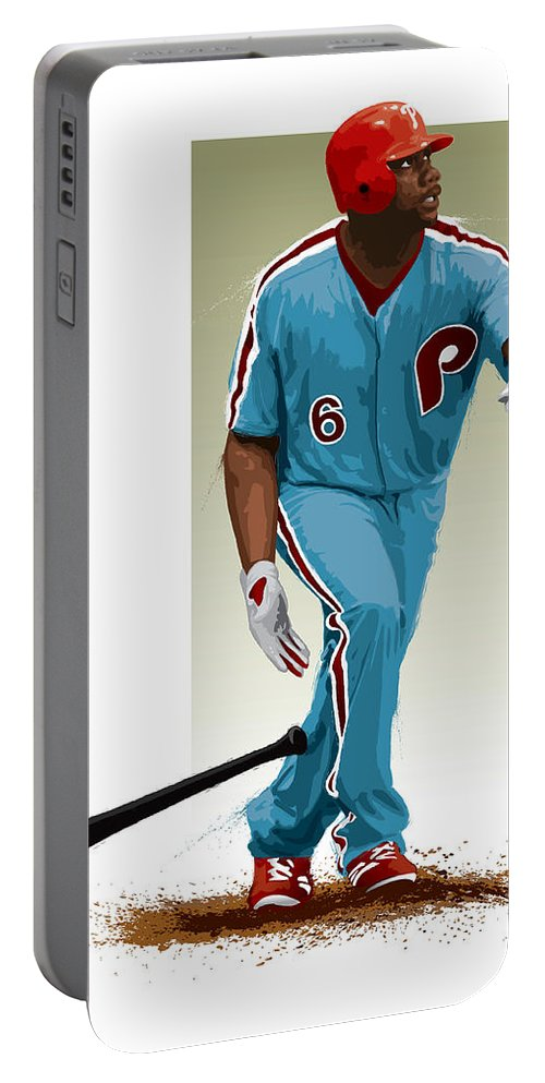 Ryan Howard Portable Battery Charger featuring the digital art Ryan Howard by Scott Weigner