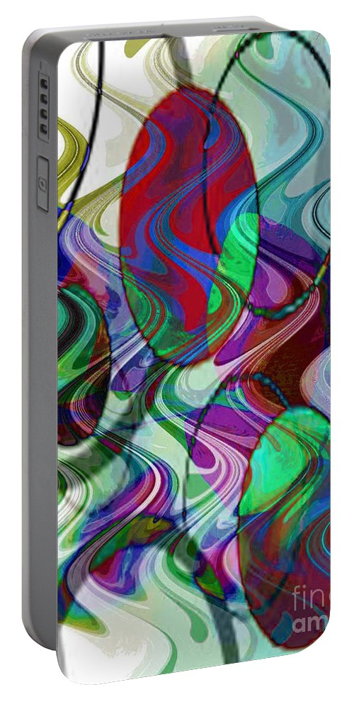 Digital Art Abstract Portable Battery Charger featuring the digital art Rythem Of Change by Yael VanGruber