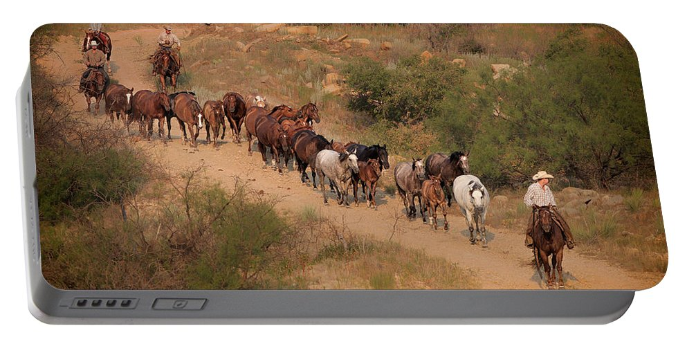 Horses Portable Battery Charger featuring the photograph S Curve by Kelli Brown