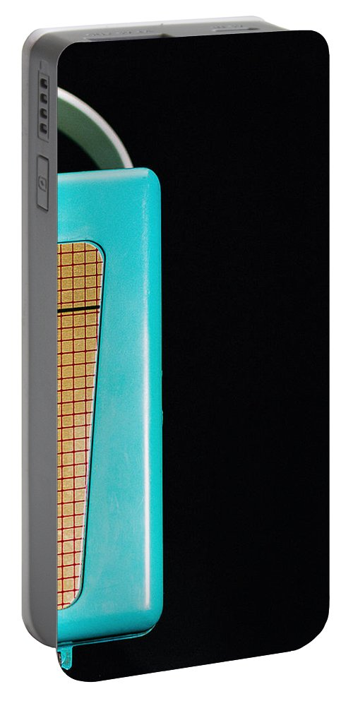 Aqua Portable Battery Charger featuring the photograph Sabre 620 Camera by Jon Woodhams