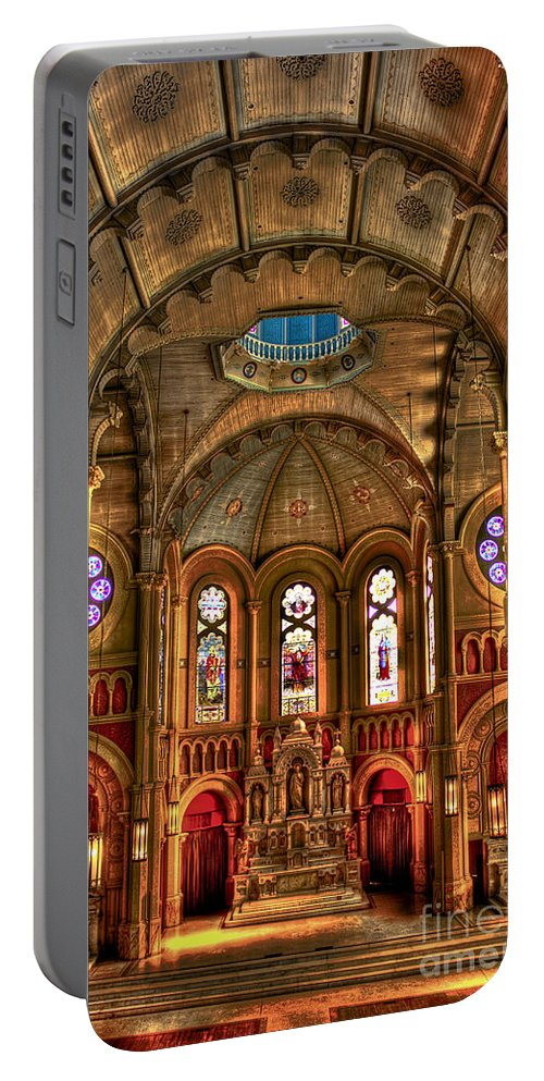 Reid Callaway Scared Heart Cultural Center Portable Battery Charger featuring the photograph Sacred Heart Cultural Center by Reid Callaway