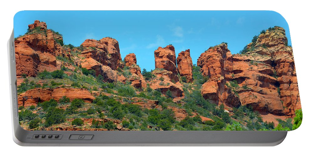Sedona Red Rocks Portable Battery Charger featuring the photograph Sacred Sedona by Deprise Brescia