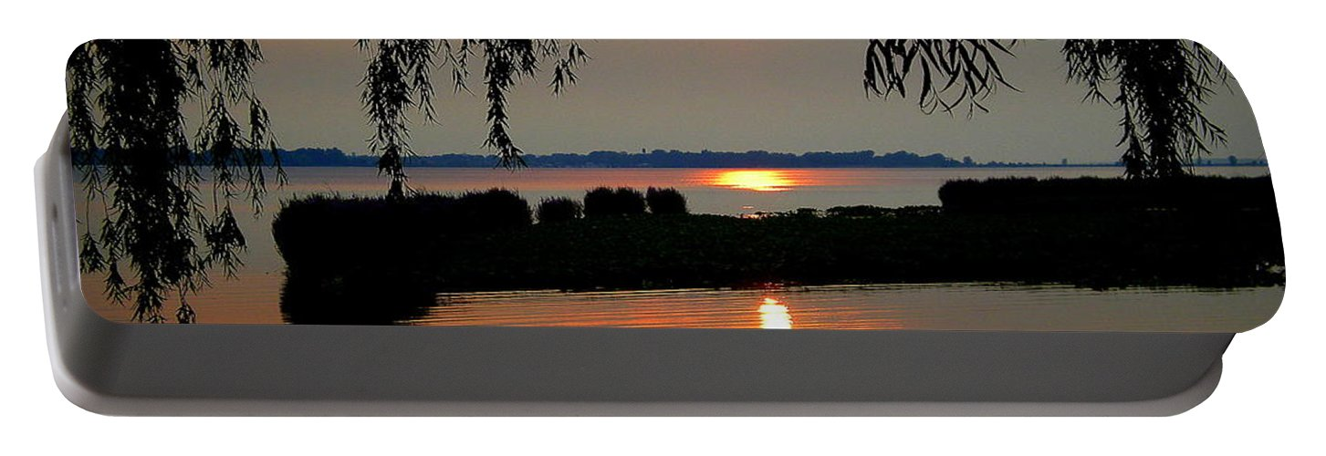 Weeping Portable Battery Charger featuring the photograph Sadness At Days End by Frozen in Time Fine Art Photography