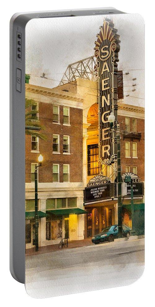 Steve Harrington Portable Battery Charger featuring the photograph Saenger Theatre New Orleans Paint 2 by Steve Harrington