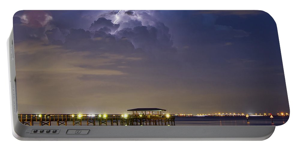 Pier Portable Battery Charger featuring the photograph Safety Harbor Pier by Stephen Whalen