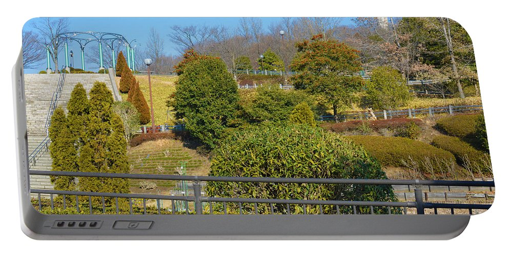 Park Portable Battery Charger featuring the photograph Sagamihara Asamizo Park 16 by Jay Mann