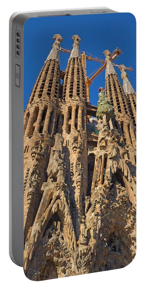 Architectural Portable Battery Charger featuring the photograph Sagrada Familia In Barcelona by Jaroslav Frank