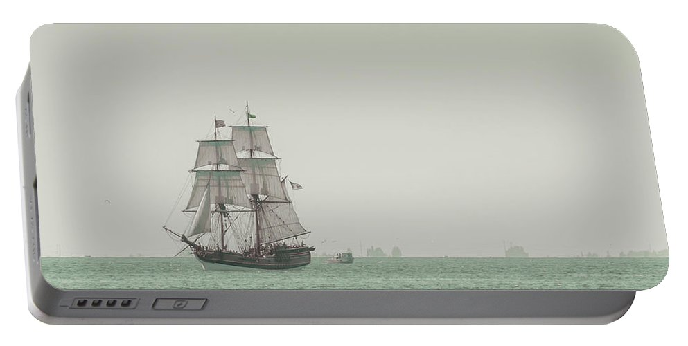 Art Portable Battery Charger featuring the photograph Sail Ship 1 by Lucid Mood