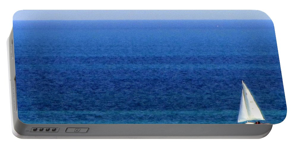 Sailboat Portable Battery Charger featuring the photograph Sailboat 1 by Anita Burgermeister