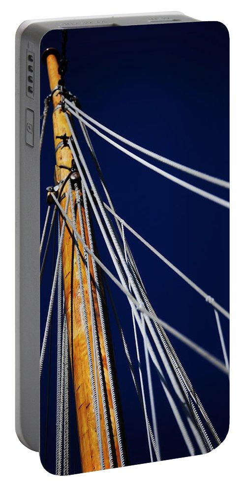 Schooner Portable Battery Charger featuring the photograph Sailboat Lines by Karol Livote