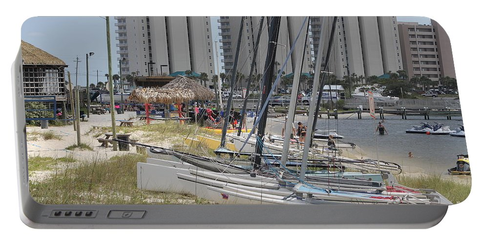 Ft.walton Beach Portable Battery Charger featuring the photograph Sailboats For Playtime by Michelle Powell