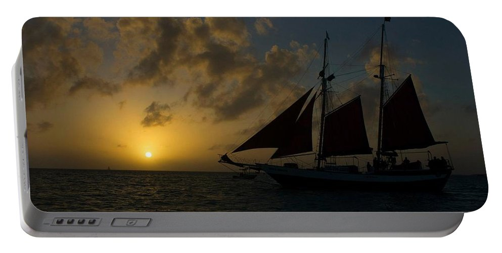 Sail Portable Battery Charger featuring the photograph Sailing At Dusk by Kathleen Odenthal