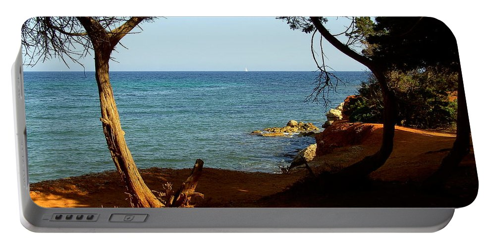 Trees Portable Battery Charger featuring the photograph Sailing In Solitude by Steve Kearns