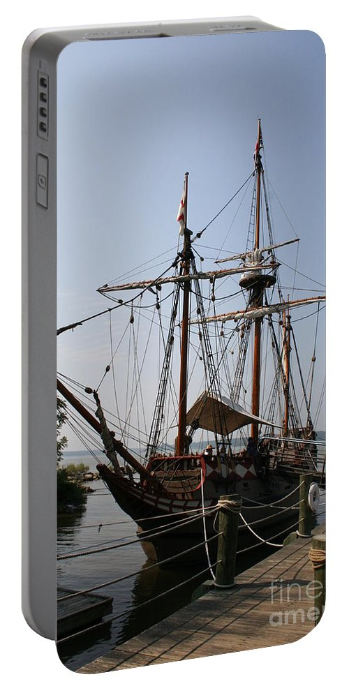 Sailing Ship Portable Battery Charger featuring the photograph Sailing Ship by Christiane Schulze Art And Photography