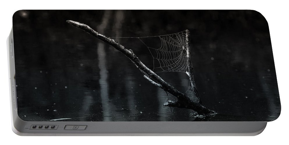 Spider Web Portable Battery Charger featuring the photograph Sailing by Susan Capuano