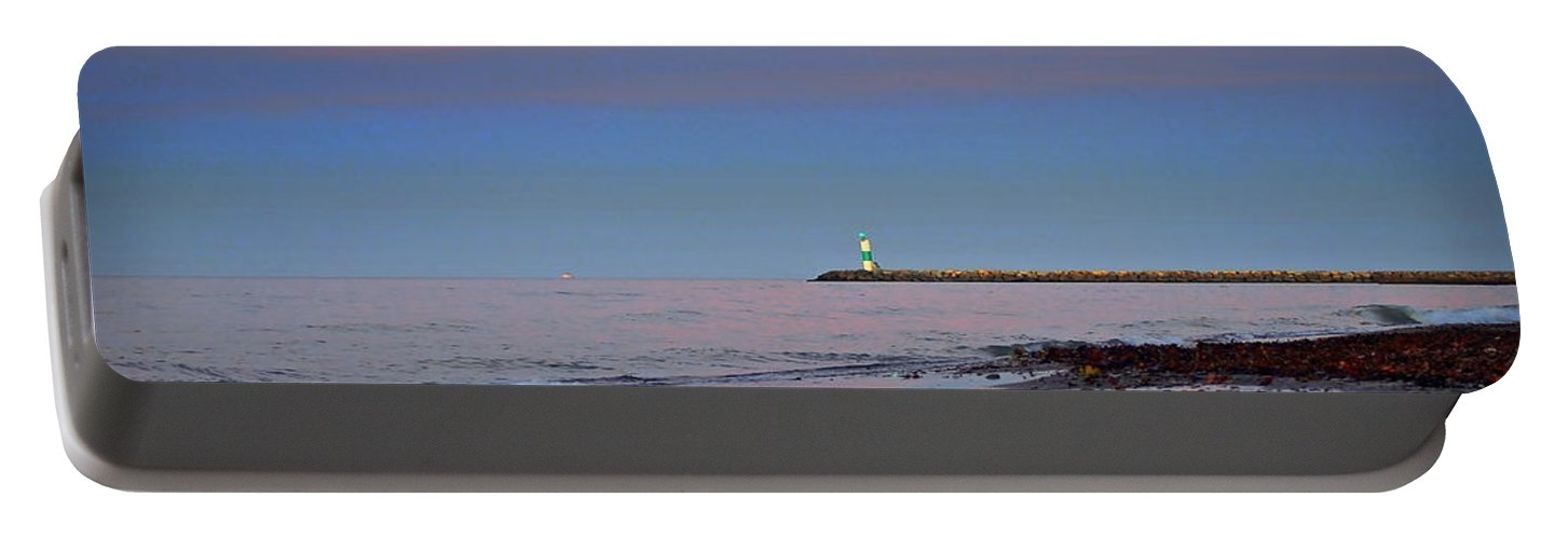 Sunset Portable Battery Charger featuring the photograph Sailors Guide by Frozen in Time Fine Art Photography