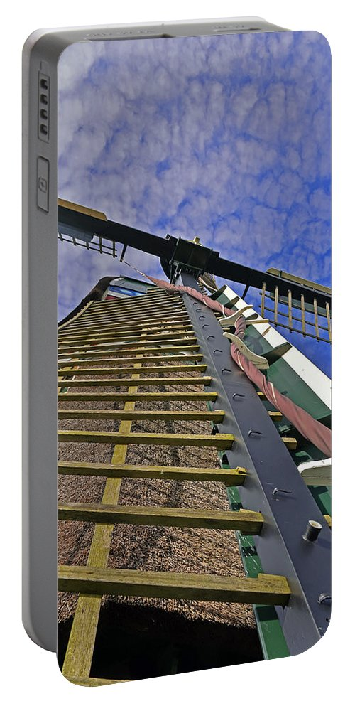 Travel Portable Battery Charger featuring the photograph Sails Of A Windmill by Elvis Vaughn