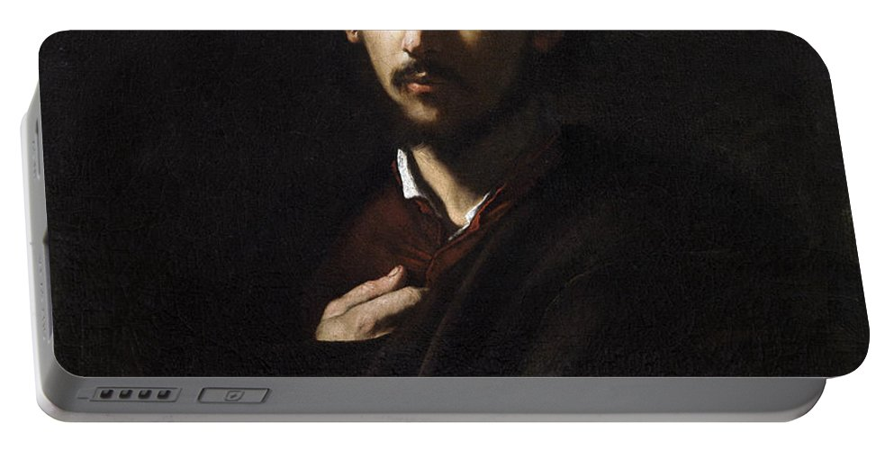 Jusepe De Ribera Portable Battery Charger featuring the painting Saint James The Less by Jusepe de Ribera