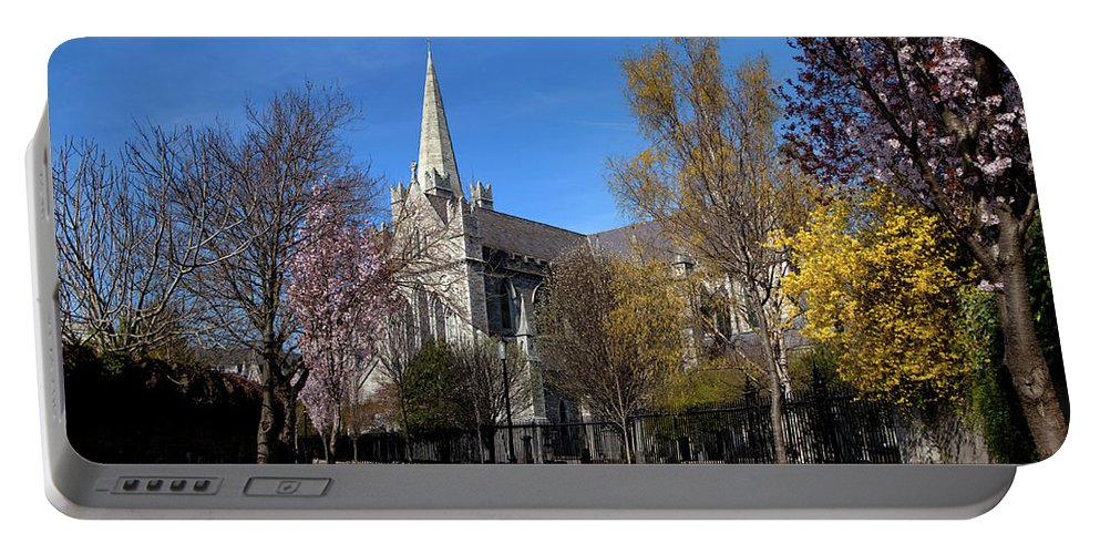 Photography Portable Battery Charger featuring the photograph Saint Patricks Cathedral Founded by Panoramic Images