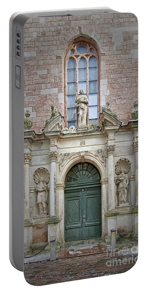 Door Portable Battery Charger featuring the photograph Saint Peters Doorway by Antony McAulay