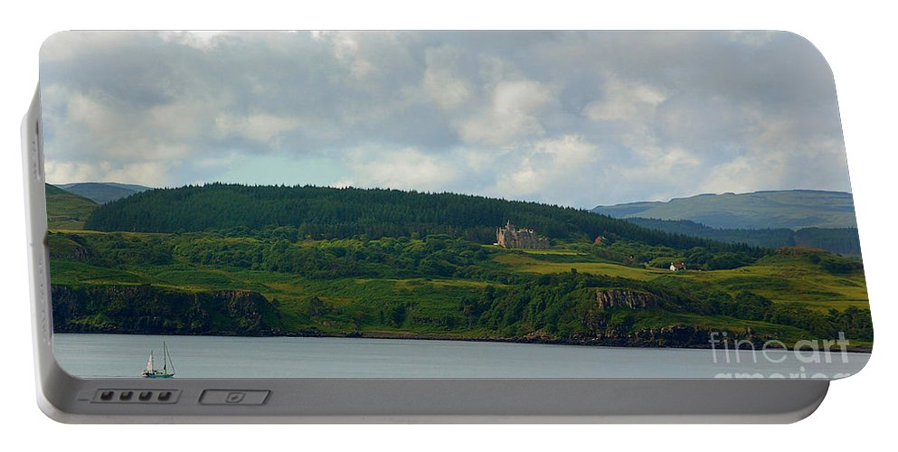 Sailing Portable Battery Charger featuring the photograph Saling Northern Scotland 3 by Nancy L Marshall