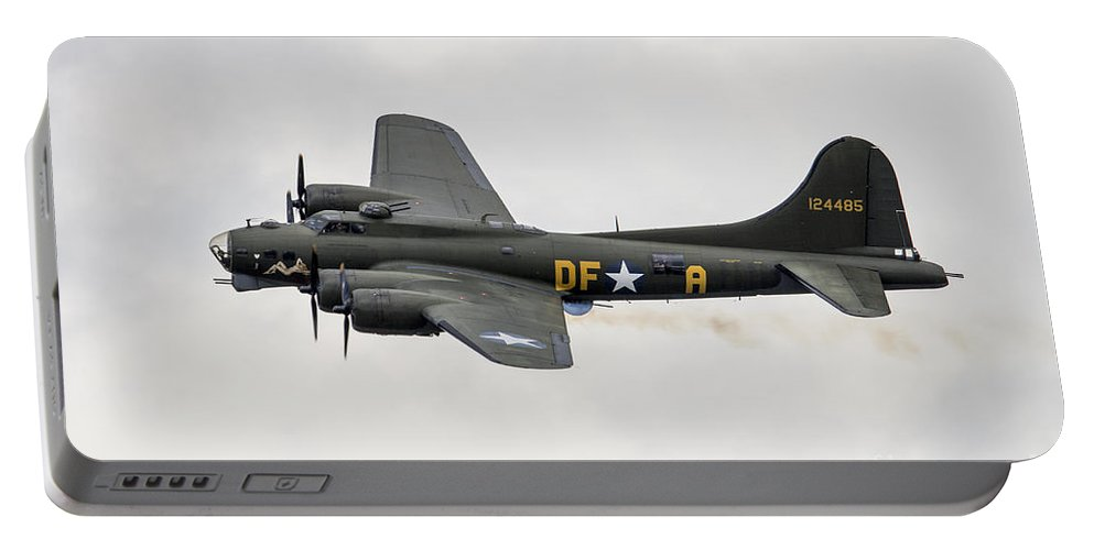 B-17 Portable Battery Charger featuring the photograph Sally B by J Biggadike