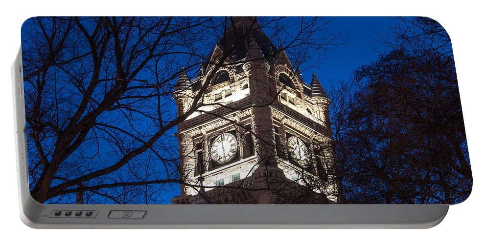 Salt Lake Portable Battery Charger featuring the photograph Salt Lake City And County Building At Night by Gary Whitton