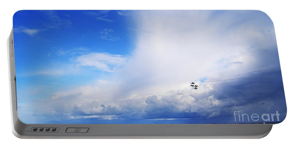 Salthill Portable Battery Charger featuring the photograph Salthill Air Show by Eamonn Hogan