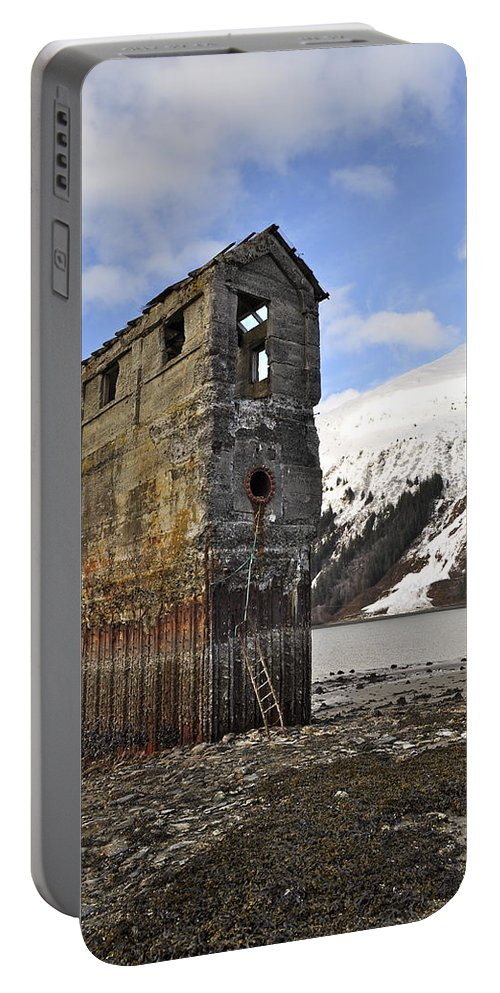 Pumphouse Portable Battery Charger featuring the photograph Saltwater Pump House by Cathy Mahnke