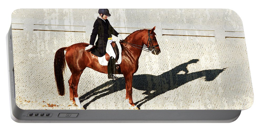 Dressage Portable Battery Charger featuring the photograph Salute by Alice Gipson