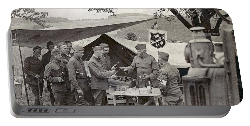 1918 Portable Battery Charger featuring the photograph Salvation Army At Front by Granger