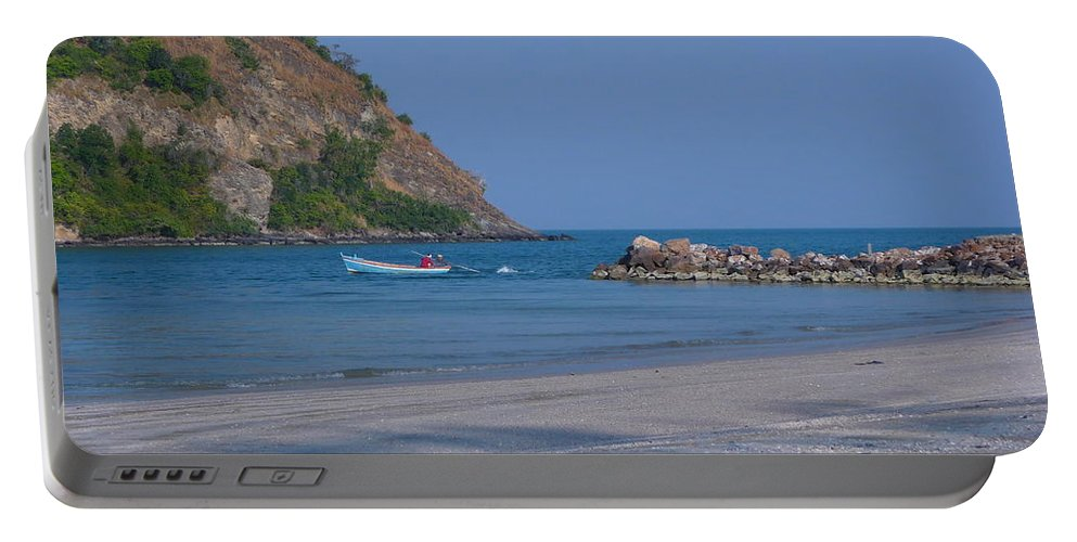 Seascape Portable Battery Charger featuring the photograph Sam Roi Yod Beach 05 by Pusita Gibbs