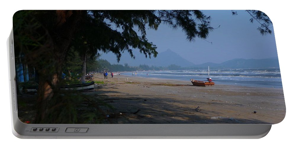Landscape Portable Battery Charger featuring the photograph Sam Roi Yod Beach by Pusita Gibbs