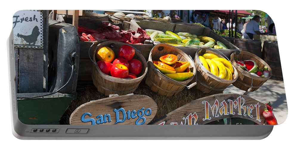 Travel Portable Battery Charger featuring the photograph San Diego Old Town Market by Jason O Watson