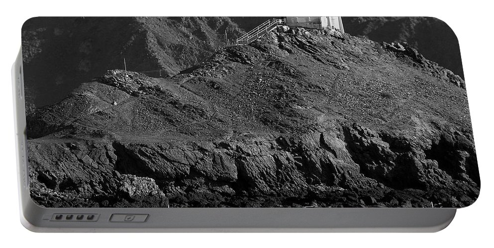 Black And White Portable Battery Charger featuring the photograph San Felipe 2008 31 by Jeff Brunton
